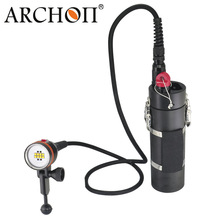 ARCHON DH160/ WH166 LED Canister Diving Light Underwater LED Dive Torch 100M Waterproof archon dg150w wg156w diving flashlight 10000lm rechargeable dive light underwater photography torch with battery pack