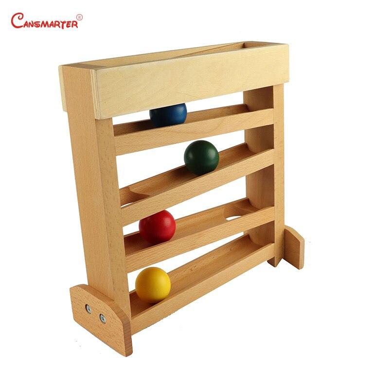 Juguetes Educativos Montessori Sensorial el rastreador preescolar niños aprendizaje entrenamiento SIDA amigable seguro juguetes de madera LT051-30