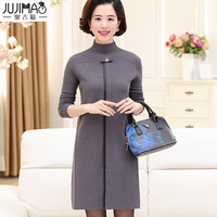 2018 Middle aged women fall and winter sweater dress 40 50 years old mother thick warmth
