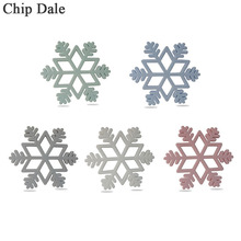 Chip Dale 1Pcs Snowflake Silicone Teether Food Grade Teething Silicone Beads Infant Chew Necklace To