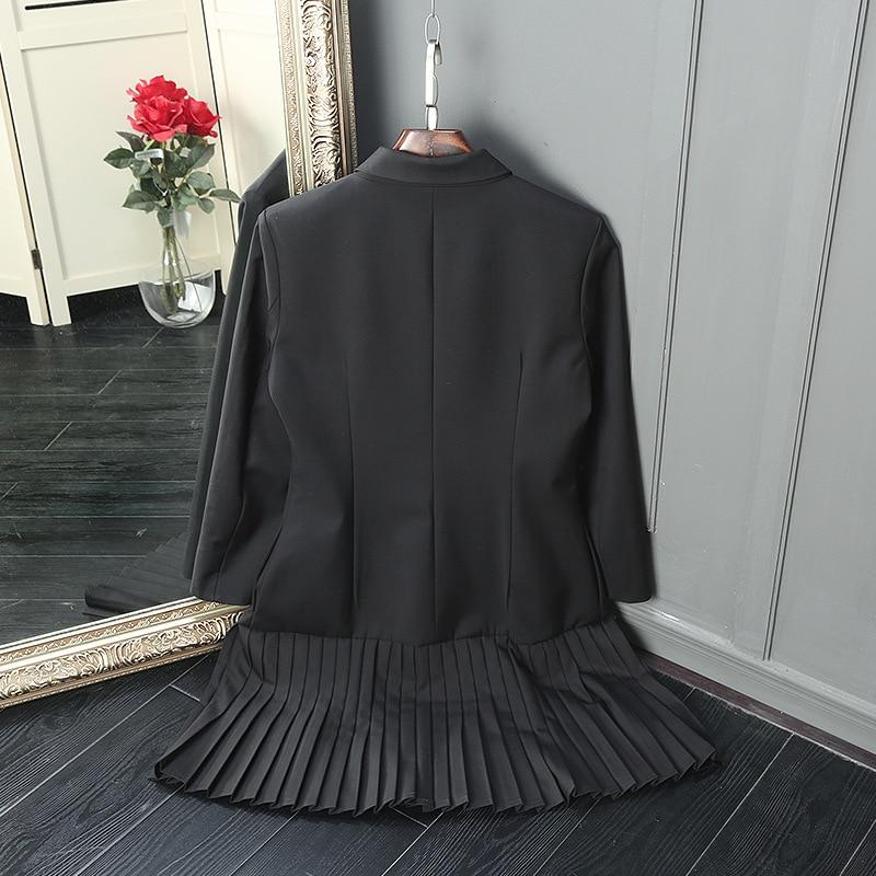 Mode Et Haute Jcket Taille Femmes xl Double 2017 Longue Noir Qualité Patchwork Gris Top Survêtement Sein Du S Couleur Casual BvBnx1I