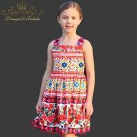 Ragazze Princess Dress Abiti di Marca Toddler Costume per I Bambini Vestiti 2018 Del Bambino Dipinto Famoso Del Partito Bambini Abbigliamento