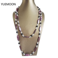 100% FRESHWATER PEARL NECKLACE,120 CM LONG NECKLACE ,very fashion colors pearls,NEAR ROUND shape pearl