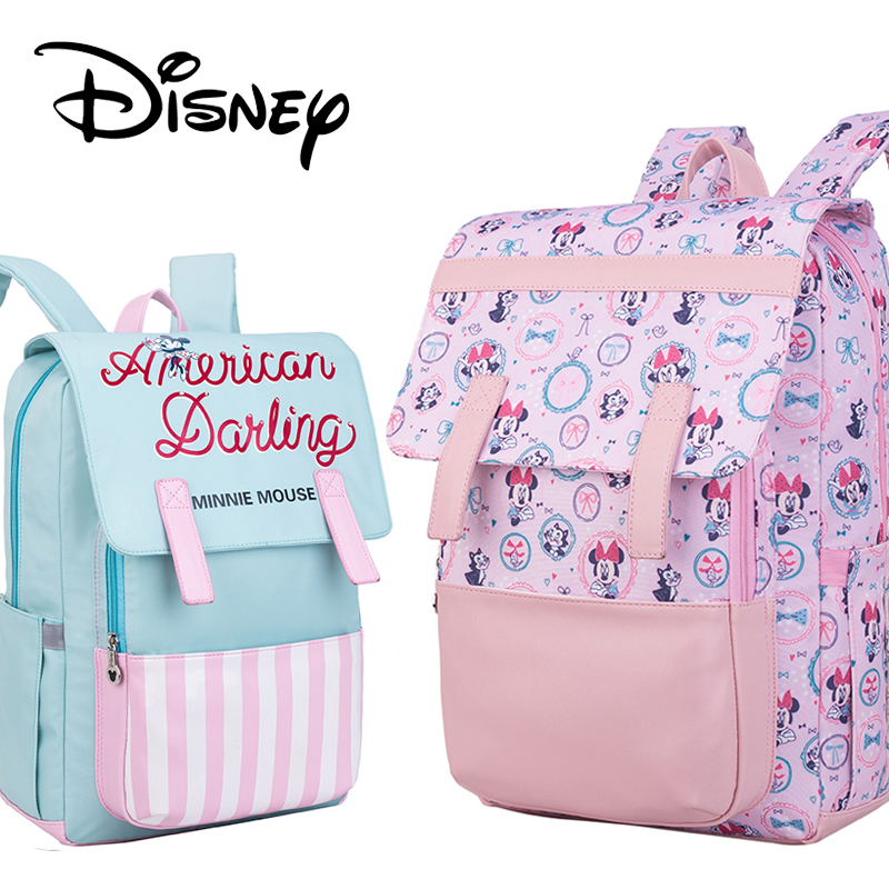 Disney Minnie Mickey Maternity Baby Diaper Bags Backpack Large Capacity Oxford Storage Napper Stoller Travel Mommy Nursing BagDisney Minnie Mickey Maternity Baby Diaper Bags Backpack Large Capacity Oxford Storage Napper Stoller Travel Mommy Nursing Bag