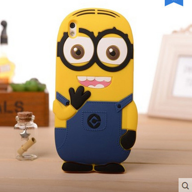 designer fashion ad252 46151 US $3.89 |Cute 3D Cartoon Yellow Minion Silicon Skin Case For HTC Desire  816 816G Phone Case Back Cover-in Fitted Cases from Cellphones & ...