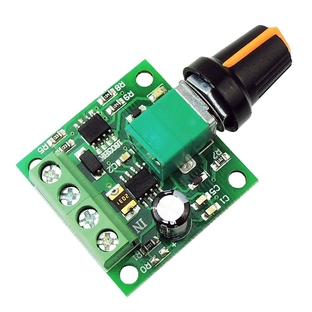 Mini <font><b>DC</b></font> <font><b>Motor</b></font> Speed Regulator controls 1.8v 3v <font><b>5v</b></font> 6v 7.2v 12v 2A 30W <font><b>DC</b></font> <font><b>Motor</b></font> Speed Controller PWM Adjustable Driver Switch image