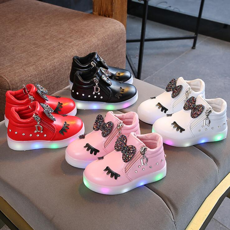 KKABBYII Hot Sale Children Glowing Shoes Kids Princess Girls Led Shoes Spring Autumn Cute Baby Sneakers Shoes EU Size 21-30KKABBYII Hot Sale Children Glowing Shoes Kids Princess Girls Led Shoes Spring Autumn Cute Baby Sneakers Shoes EU Size 21-30