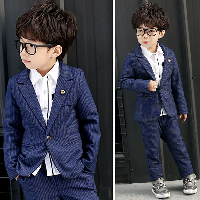 ffd4920a04d11 2018 New Children Suit Baby Boys Suits Kids Blazer Boys Formal Suit For Wedding  Boys Clothes Set Jackets Blazer+Pants 2pcs 2-14Y