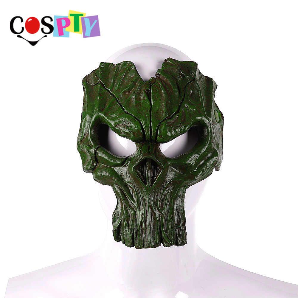 Day of The Dead Cospty Carnaval Dia De Los Muertos Overlord Halloween Horror Assustador Da Espuma do Plutônio Homem Ardente Cavaleiro Da Morte máscara de caveira