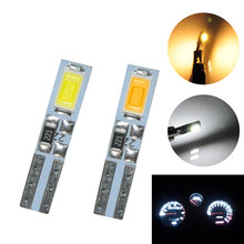 50pcs T5 2 LED 5630 SMD Instrument Dashboard Gauge Wedge Light Bulbs White Warm white стоимость