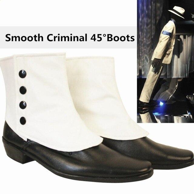 Rare MJ Michael Jackson SMOOTH CRIMINAL Easy 45 Degrees Magic Amazing  Unimaginable Leaning Shoes Boots Show Moonwalk 1990-1995 S 81fb077b0
