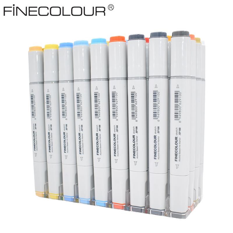 Finecolour Alcohol Based Markers Manga Color Pen 36/48/60/72 Colors Set Professional Class Special Drawing Painting Markers free shipping alcohol oil two headed art mark pen six generations upgrade 36 60 80 color fine markers manga drawing finecolour