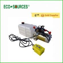 ECO-SOURCES высокое качество гидравлический двойного действия Мощность блок 12 В дампа Прицепы-6 кварт 3200 psi max