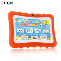 FUGN 7 ''Android Tablet PC mit Gehärtetem Glas Film Quad Core Wifi 512 Mt RAM 8 GB ROM 16 GB Kinder Lernen Tabletten Silikon 8 9'
