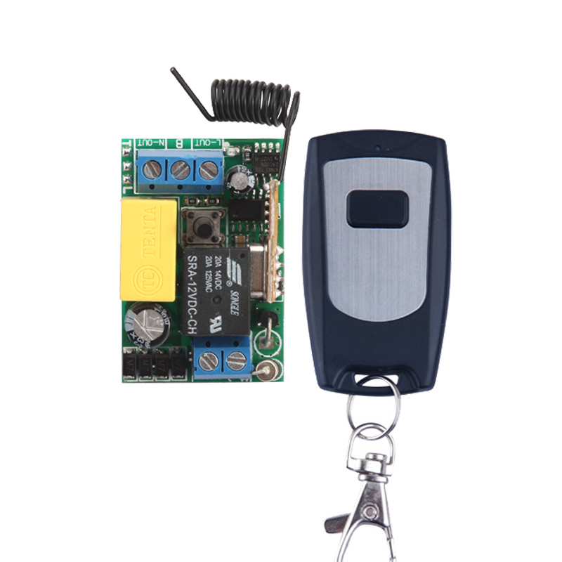 AC 220V 1 CH 10A Remote Control Switch Relay Receiver Transmitter LED Lamp Light Remote ON OFF Wireless Switch 315/433 RX TX small ac220v remote control switch long range transmitter receiver 200 3000m lamp light led remote lighting switch 315 433 92mhz