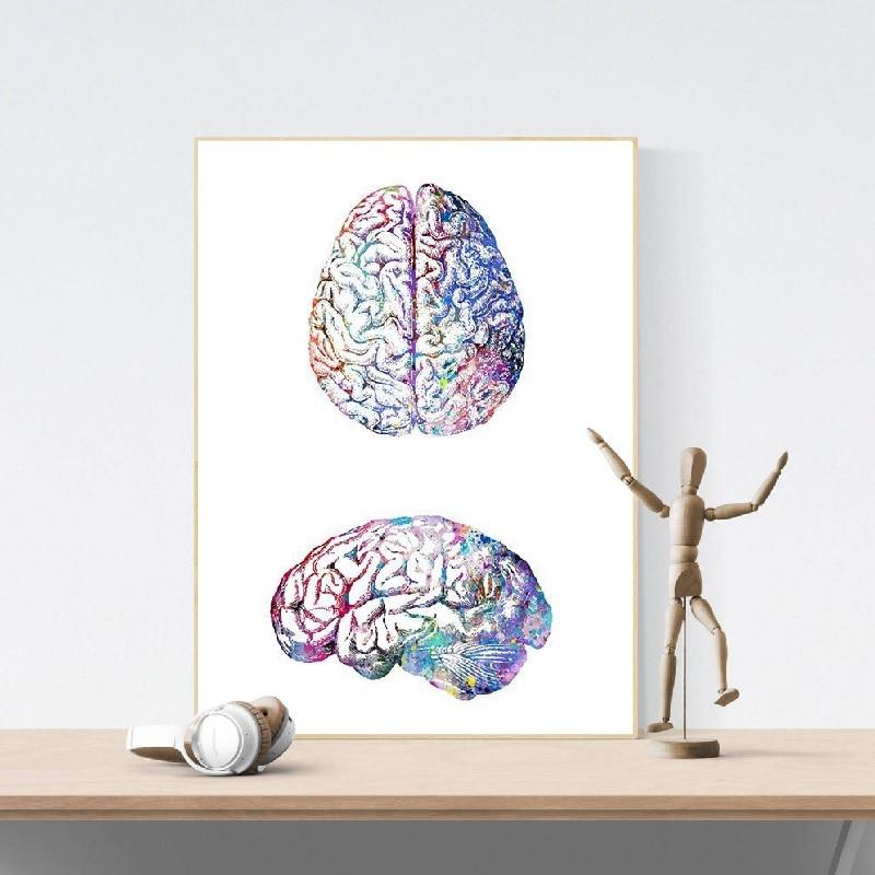DNA Human Art Watercolor Print Science Art Print For Doctor Medical Art Biology
