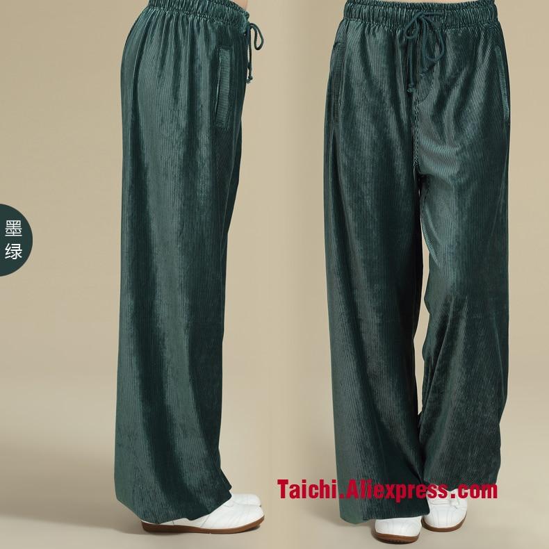 Chinese men and women practicing Tai Chi pants corduroy pants Home Furnishing drawstring Yoga leisure sports pants