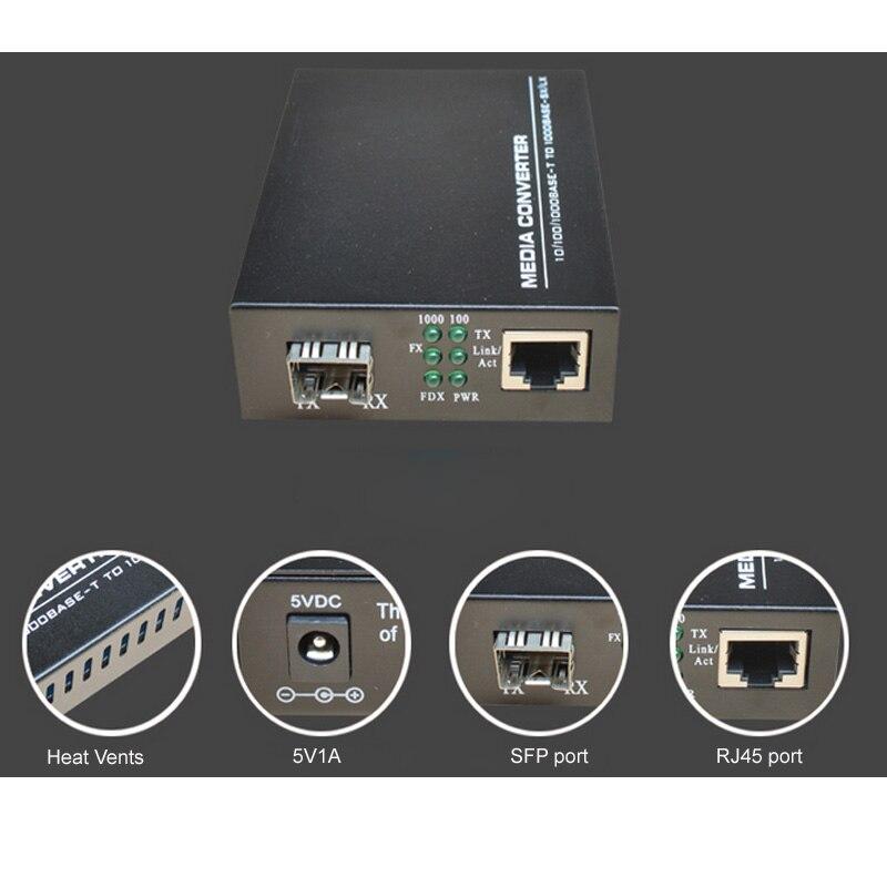 Wysokiej jakości konwerter mediów Fast Ethernet SFP 10/100 / 1000M - Sprzęt komunikacyjny - Zdjęcie 5