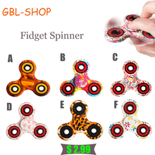 Nice Feel Quality Multicolor Tri-Spinner Fidget spinner Speelgoed EDC Hand Spinner Anti Stress Reliever handspinner