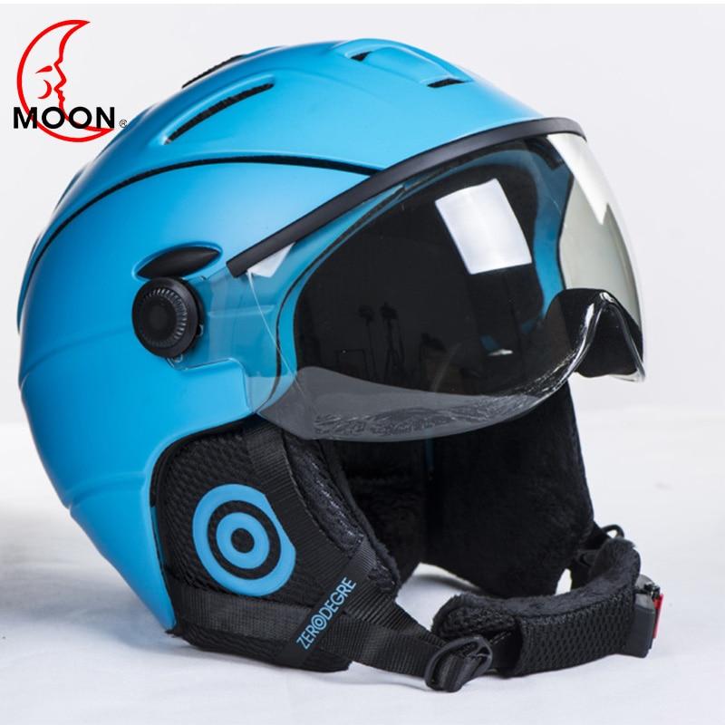 MOON Goggles Skiing Helmet Integrally-Molded PC+EPS CE Certificate Ski Helmet Outdoor Sports Ski Snowboard Skateboard aidy 618 lightweight comfortable pc eps skiing helmet white