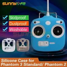 Controle remoto De Silicone Caso Protetor de Silicone Capa Luva para DJI Fantasma 3 Padrão e Phantom 2/2 V/2 V + Zangão