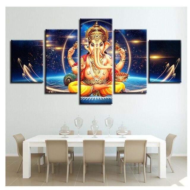 Satin Almak Fil Kafasi Tanri Elmas Boyama 5 Adet Hindu Ganesha