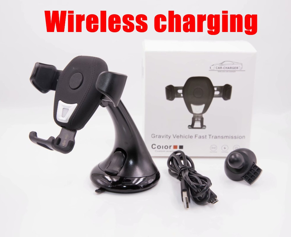 Wireless Charger for iPhone Xs Max XR X 8Plus for Samsung Galaxy Note 9 S9 Plus Wireless Charging Charger Car Phone Holder Stand