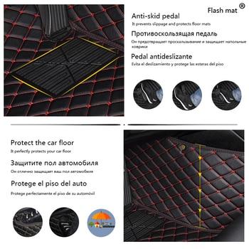 Flash mat leather car floor mats for Bmw X5 E53 E70 2004-2013 2014- 2016 2017 2018 Custom auto foot Pads automobile carpet cover
