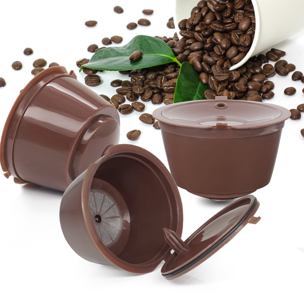4 pz/lotto Riutilizzabile Dolce Gusto Capsule di Caffè Capsule Riutilizzabili Compatibili Ricarica con Nescafè Genio, Piccolo, Esperta