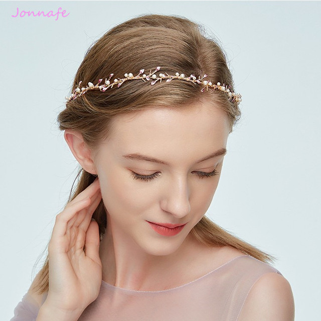 Jonnafe Simple Gold Branch Bridal Headband Hair Ornaments Vintage