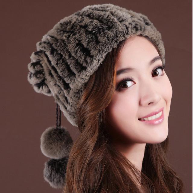 2016 Mujeres Sombrero De Piel Superior del Sombrero Elástico Estupendo Elástico Señoras de La Moda de Invierno Cálido Sombrero MZ004