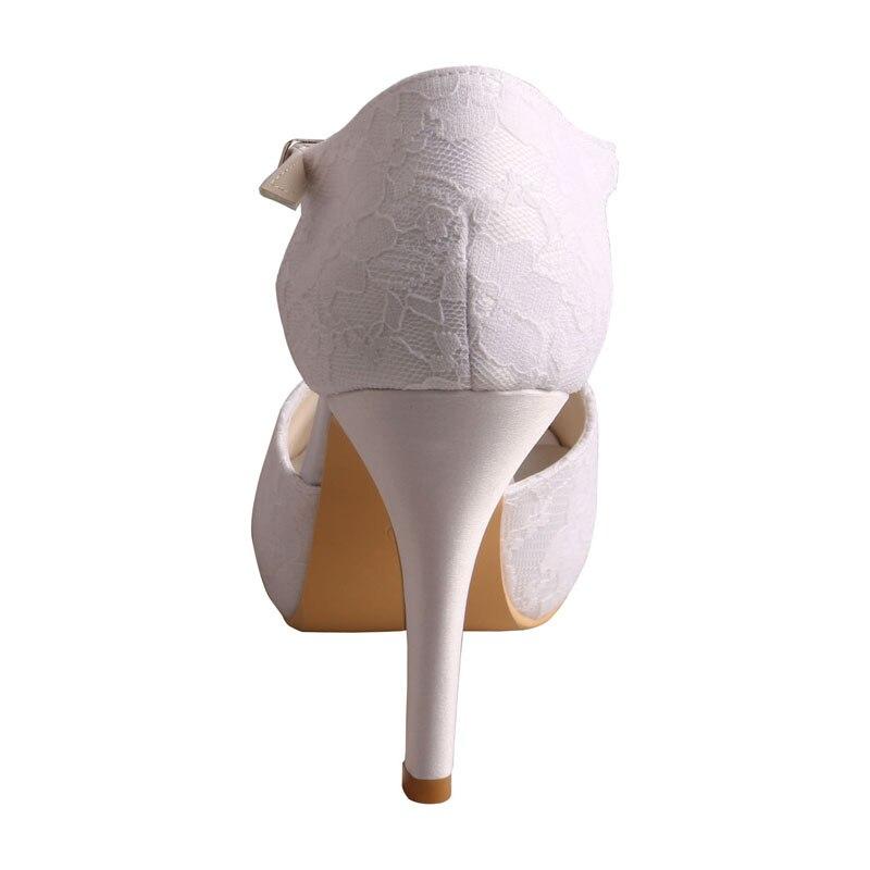 Hauts Sandales Personnalisé Bout Ouvert Mariée De Mariage Talons La Dentelle blanc Chaussures À bleu Noir Vénus ivoire Main Leurre Femmes 856wqzq