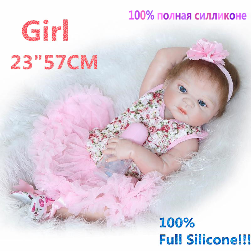 Christmas gifts in Europe and America Early Education Full Body Silicone Doll Reborn Babies Brinquedo Lifelike RB16-11H10