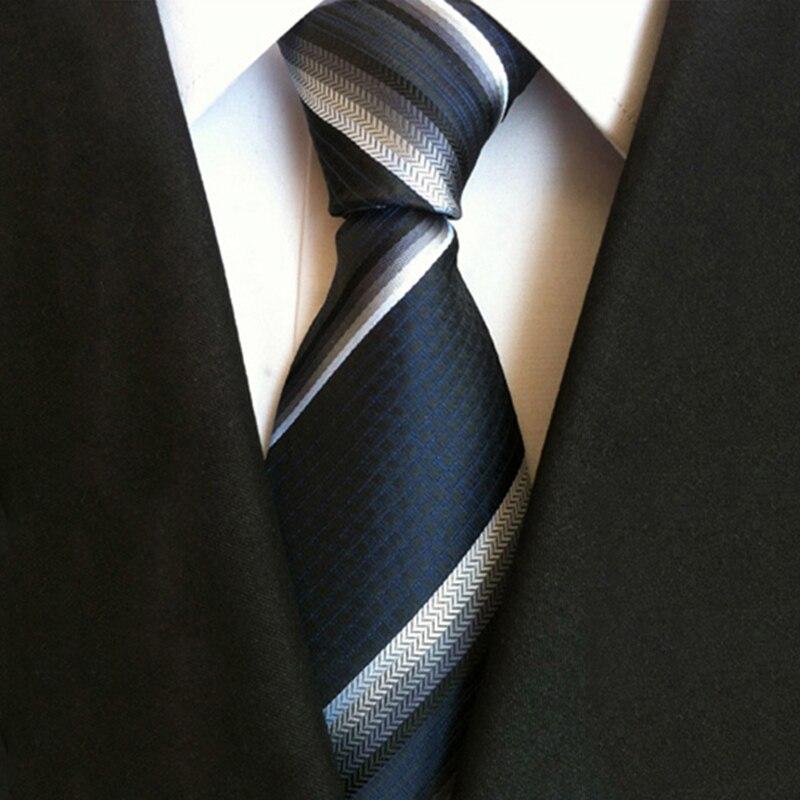 Men Skinny Ties 8CM Red Black White Jacquard Woven Slim Narrow Party Dress Striped Business Necktie Gravatas Tie for Man Work in Men 39 s Ties amp Handkerchiefs from Apparel Accessories