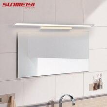 Morden Anti-fog Waterproof Acrylic Mirror Light LED Bathroom Wall Lamp Brief Indoor Lighting Fixtures Sconce for Home Bed