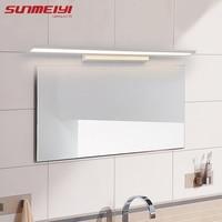 Morden Anti Fog Waterproof Acrylic Mirror Light LED Bathroom Wall Lamp Brief Indoor Lighting Fixtures Sconce