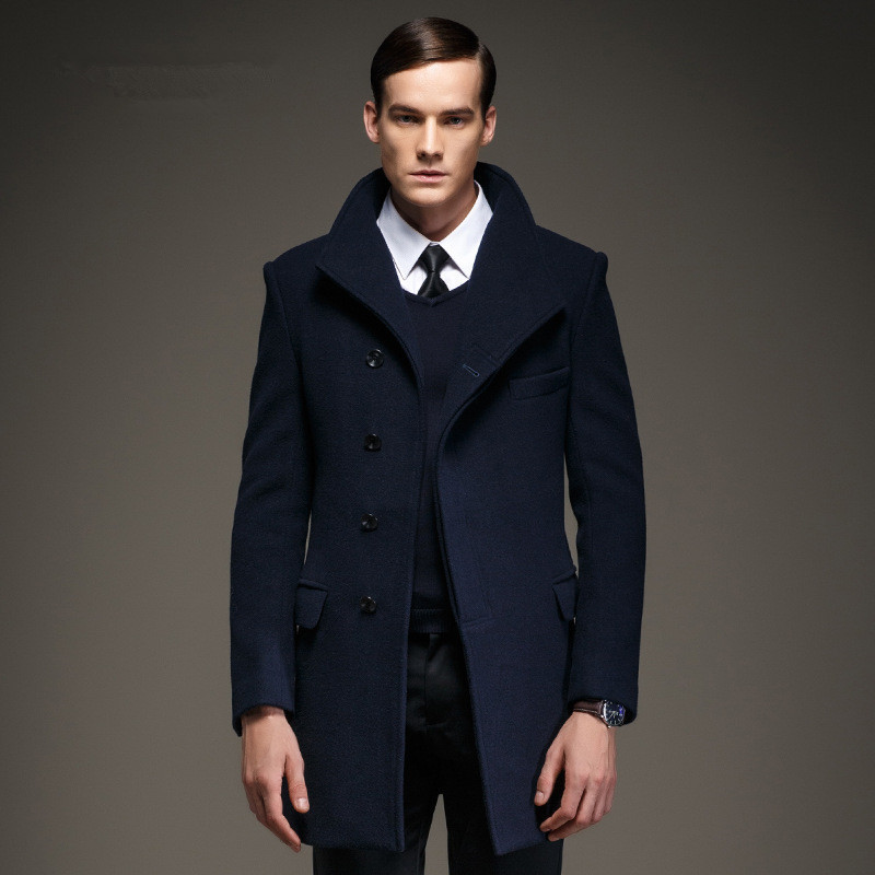 Aliexpress.com : Buy Fashion Mens Pea Coat Jacket Wool & Blends ...