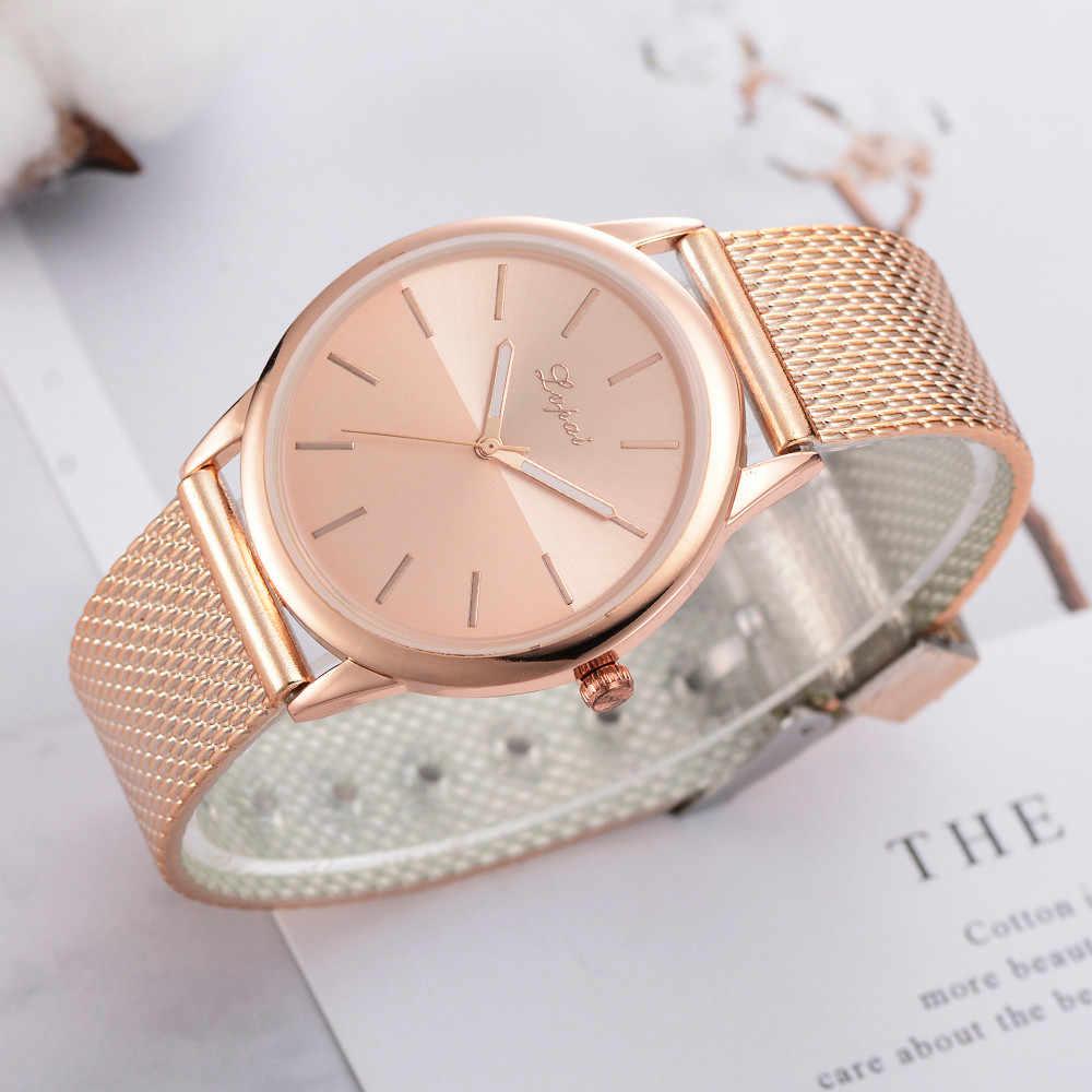 גבירותיי שעון נירוסטה אנלוגי אנלוגי שעון צמיד להקת נשים שעונים דק שעון נשים אופנה פשוט Женские часы