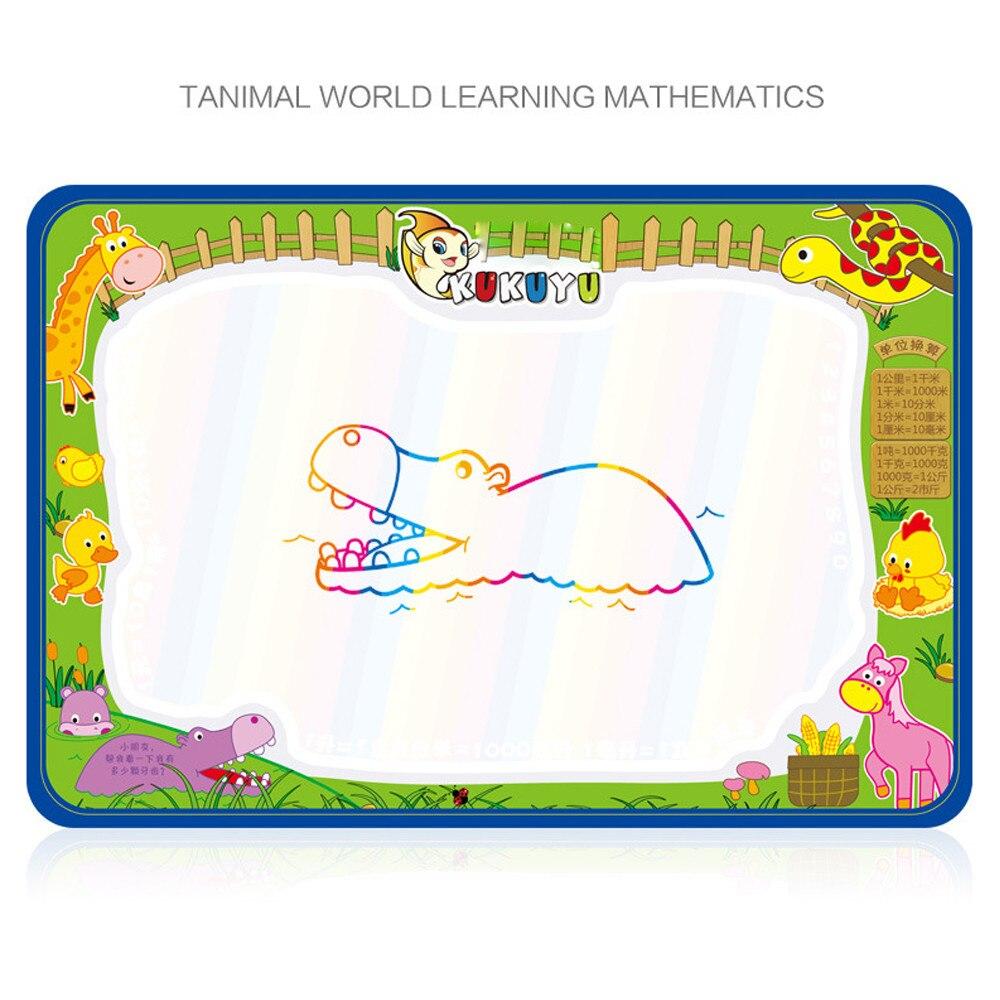 Воды Рисунок Живопись Написание мат плате Magic Pen Doodle подарок 50 см X 35 см Рождественский подарок развивающие игрушки
