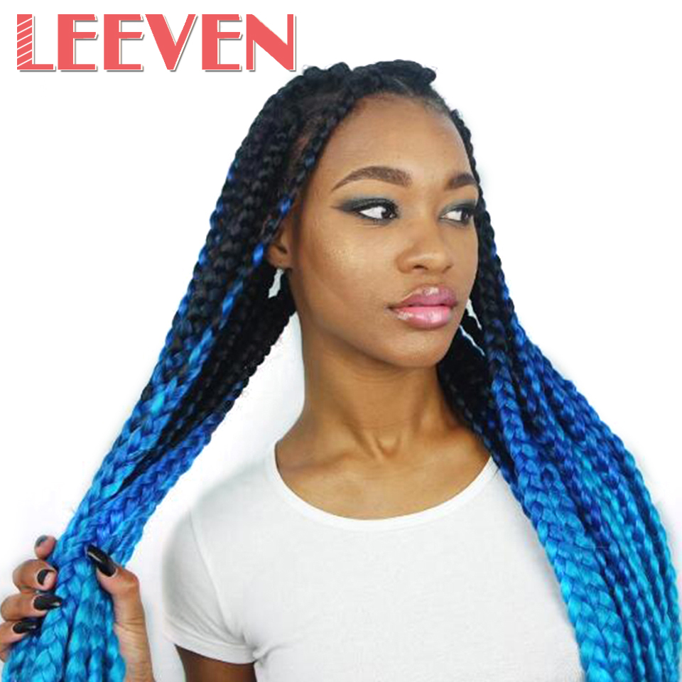 Leeven 24inch Jumbo Braids Kanekalon Ombre Synthetic