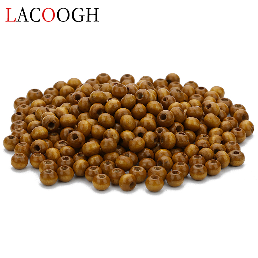 Wholeslae 500pc 6X4mm Natural Wood Bead Lentil Abacus Beads Loose Spacer Beads With 2mm Hole for DIY Bracelet Jewelry Finding
