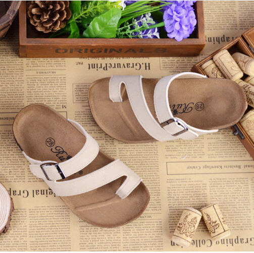 3f7e3e1c539b new fashion summer style girls shoes brand design BIRKENSTOCK cork kids  sandals girls and boys sandals 3-15 years old 7 color