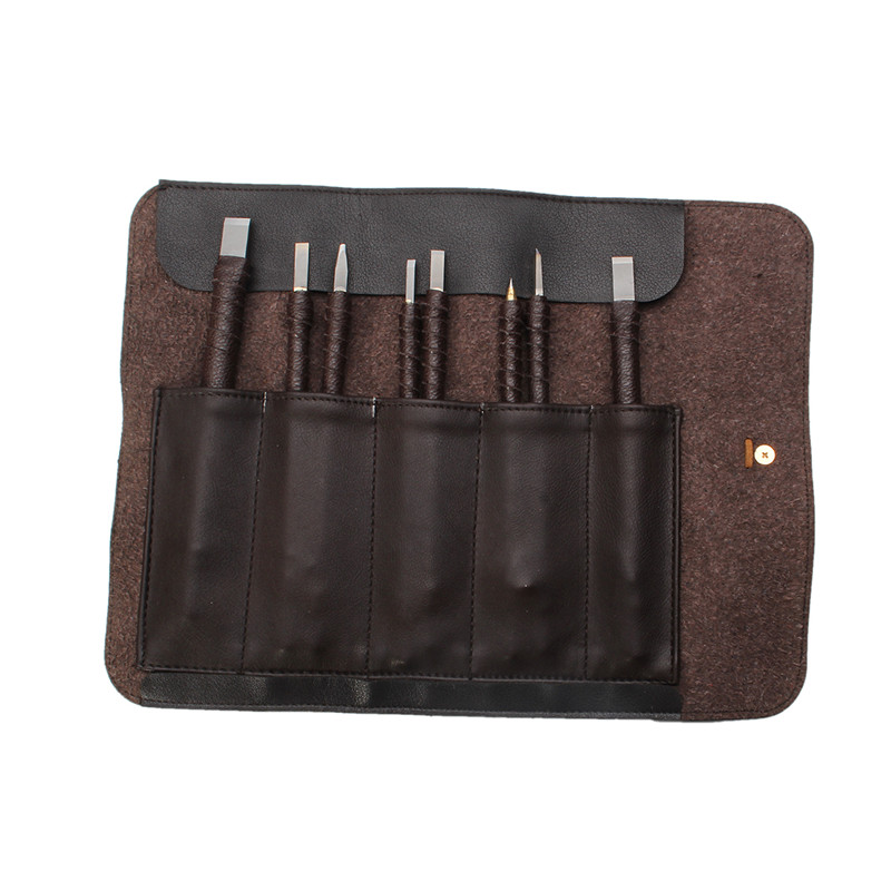 Practical 8pc Set Tungsten Steel Wood Carving Chisels Stone Seal Craft Engraving Hand Tools For Hobby