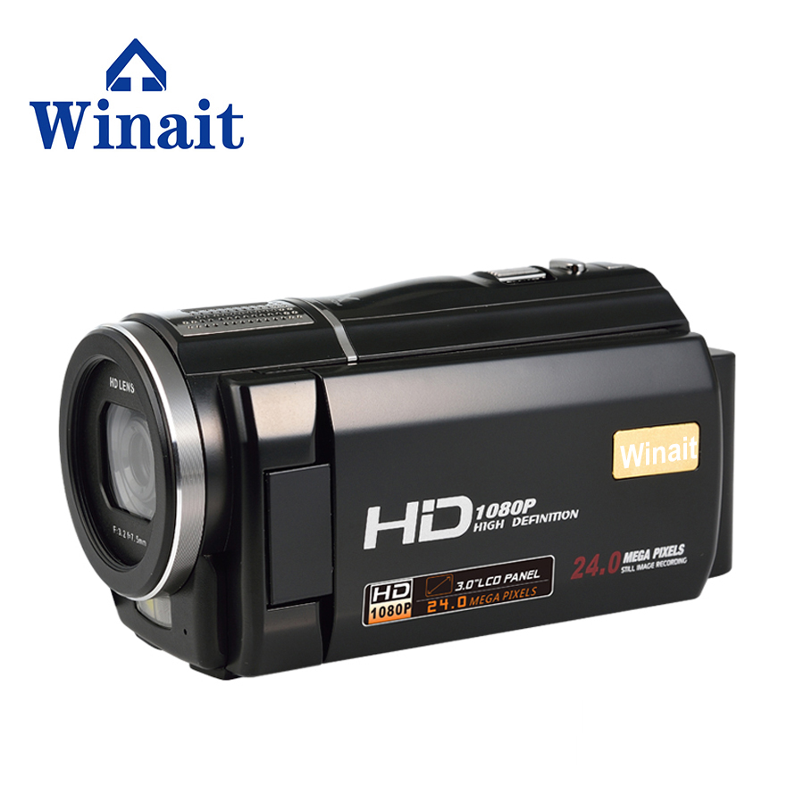 WINAIT hot sell Full HD 1080p HDV-F5 digital video camera with max 24mp free shipping winait electronic image stabilization hdv z8 digital video camera with recording function touch screen