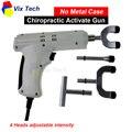 Columna vertebral Quiropráctica Activador Pistola/Instrumento de Corrección de Ajuste Masajeador de impulsos de 4 Cabezas de intensidad regulable (Sin caja de metal)