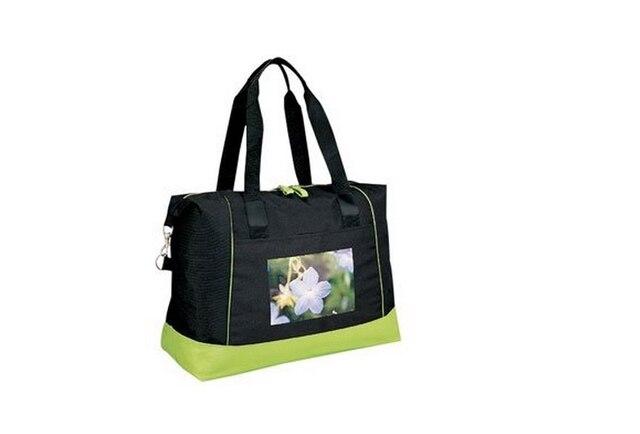 Black Large Capacity Canvas Tote Bags Front Pocket Custom Product Folding Ping Bag Foldable Womens Handbag