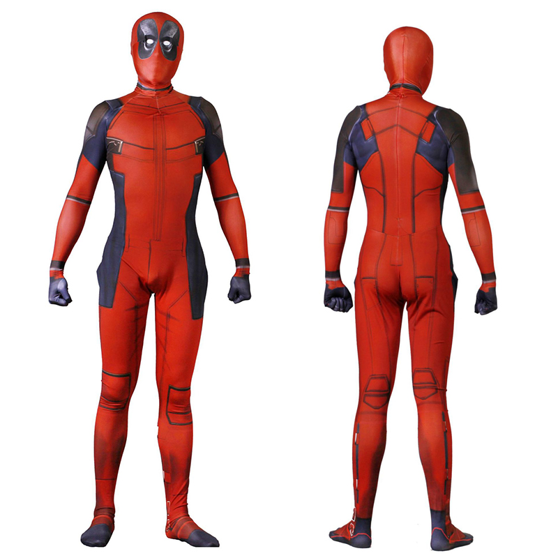 2019 Adult Kids Deadpool Cosplay Costume Mask Zentai Wade Winston Wilson Superhero Bodysuit Suit Jumpsuits for Men Boys Children