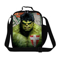 Cartoon Hero SuperMan Hulk Lunch Bag For Kids Boy Personalized Insulated Lunch Box Students Picnic Food Bag Children Cooler Bag