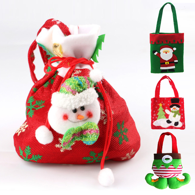 1pc Christmas Candy Gifts Bags Different Candy Bags Merry Christmas ...