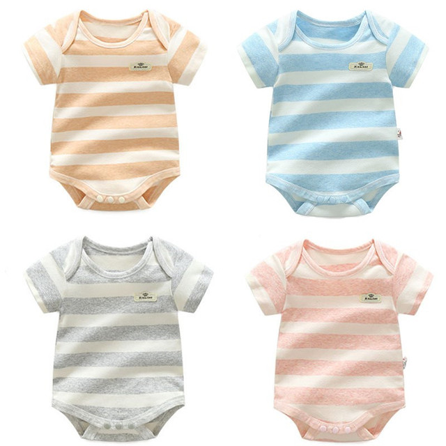 Baby Boys Striped 100% Cotton Bodysuit